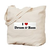 I Love Drum & Bass Tote Bag