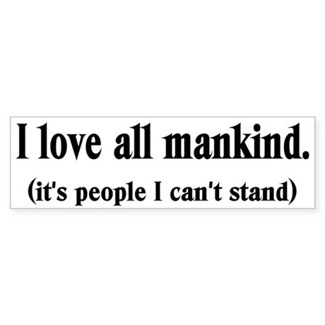 Love Mankind Bumper Sticker (50 pk)