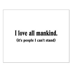 Love Mankind Small Poster