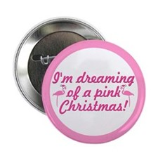 "Pink Christmas 2.25"" Button"