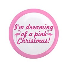 "Pink Christmas 3.5"" Button"