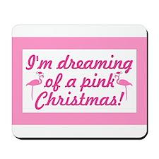 Pink Christmas Mousepad