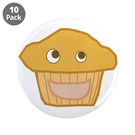 "Plain Muffin 3.5"" Button (10 pack)"