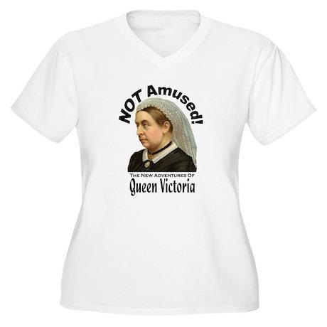 Queen Victoria Women's Plus Size V-Neck T-Shirt