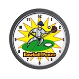 Baseball Power Wall Clock