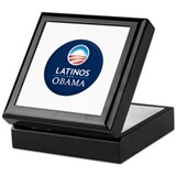 Barack Obama Latinos Keepsake Box