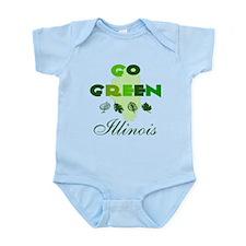 Go Green Illinois Infant Bodysuit