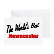 """""""The World's Best Newscaster"""" Greeting Card"""
