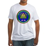 Masonic Proud American Mason Fitted T-Shirt