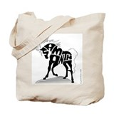 Samantha (Black Horse) Tote Bag