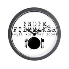 Filmmaker - will work for food! Wall Clock