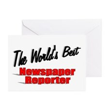 """""""The World's Best Newspaper Reporter"""" Greeting Car"""