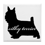 Silky Terrier DESIGN Tile Coaster