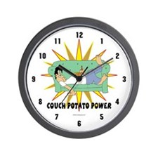 Couch Potato Power Wall Clock