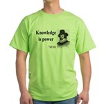 Francis Bacon Quote 1 Green T-Shirt