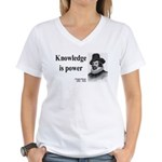 Francis Bacon Quote 1 Women's V-Neck T-Shirt