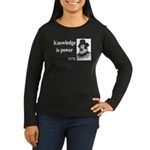 Francis Bacon Quote 1 Women's Long Sleeve Dark T-S