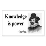 Francis Bacon Quote 1 Rectangle Sticker