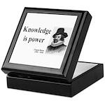 Francis Bacon Quote 1 Keepsake Box