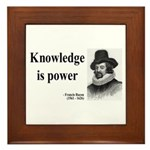 Francis Bacon Quote 1 Framed Tile