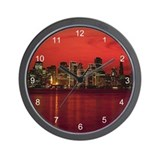 San Francisco Nighttime Skyli Wall Clock