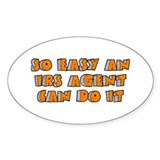 IRS Agent Oval Sticker (50 pk)