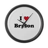 I love Bryson Large Wall Clock