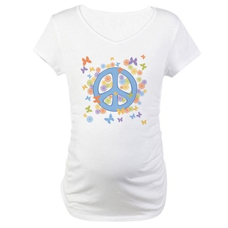 Peace & Butterflies Maternity T-Shirt