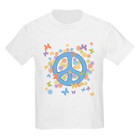 Peace & Butterflies Kids Light T-Shirt