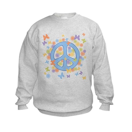 Peace & Butterflies Kids Sweatshirt
