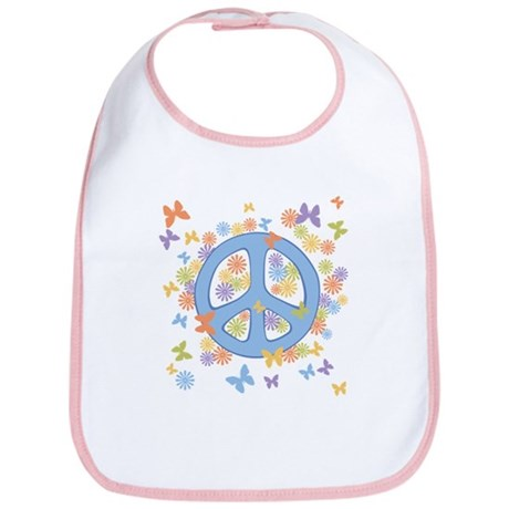 Peace & Butterflies Bib