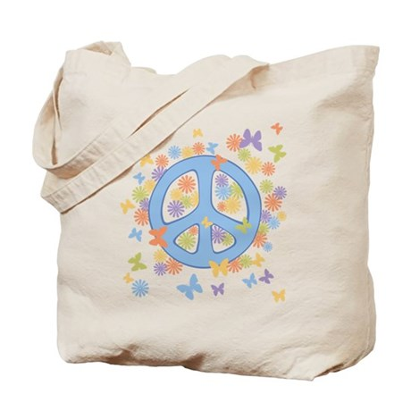 Peace & Butterflies Tote Bag
