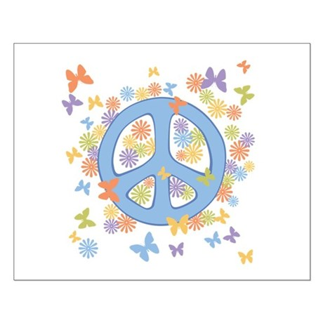 Peace & Butterflies Small Poster
