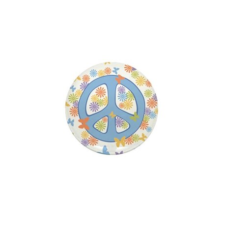 Peace & Butterflies Mini Button