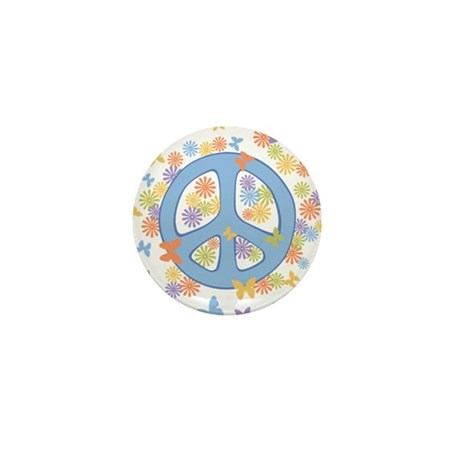 Peace & Butterflies Mini Button (10 pack)