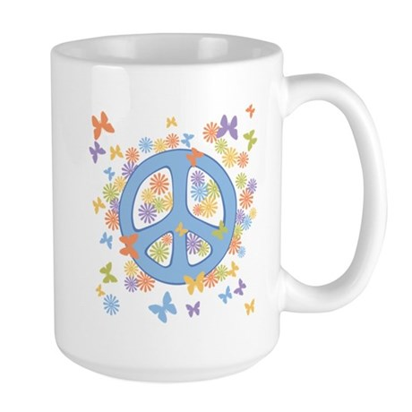 Peace & Butterflies Large Mug