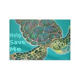 Save Turtle Rectangle Magnet (10 pack)