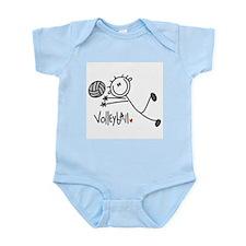 Stick Figure Volleyball Infant Bodysuit