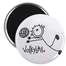 Stick Figure Volleyball Magnet