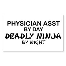 Physician Assistant Deadly Ninja by Night Decal