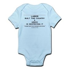 Labor Built The Country Infant Bodysuit