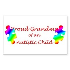 Autism Grandma Rectangle Decal