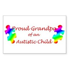 Autism Grandpa Rectangle Decal