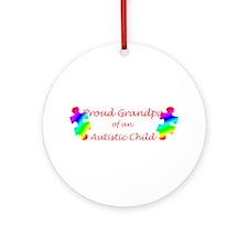 Autism Grandpa Ornament (Round)