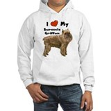 I Love My Brussels Griffon Jumper Hoody