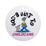 God's Gift to Childcare Keepsake (Round)