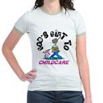God's Gift to Childcare Jr. Ringer T-Shirt