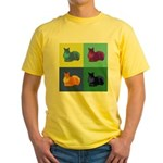 Squirrel Pop Art Yellow T-Shirt