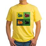 Squirrel Pop Art Yellow T-Shirt