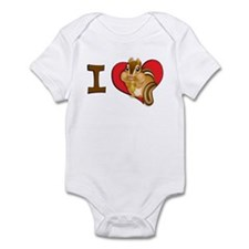 I heart chipmunks Infant Bodysuit